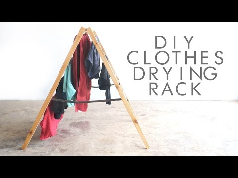 DIY Foldable Clothes Drying Rack   Modern Builds   EP. 36