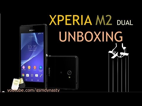 UNBOXING of XPERIA M2 DUAL with REVIEW