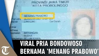 Viral di Facebook, Pria di Bondowoso Ini Bernama 'Menang Prabowo', Lihat Faktanya