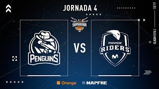 PENGUINS VS Movistar Riders | Jornada 4 | Temporada 2018-2019