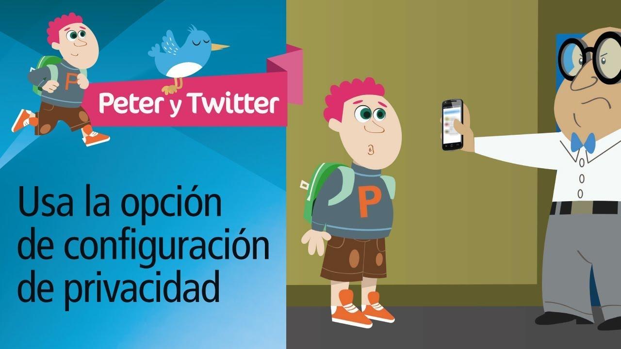 """Consejo 1: """"Examen"""". Decálogo uso responsable Twitter. PantallasAmigas"""