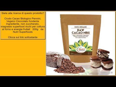 Crudo Cacao Biologico Pennini, Vegano Cioccolato fondente Ingrediente, non zuccherato, magn