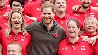 video: Prince Harry raises a giggle as he meets Team UK competitors for Invictus Games