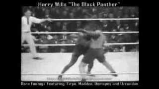 "Harry Wills | ""The Black Panther"" vs Firpo, Madden, Uzcundun, Newsreels and Dempsey"