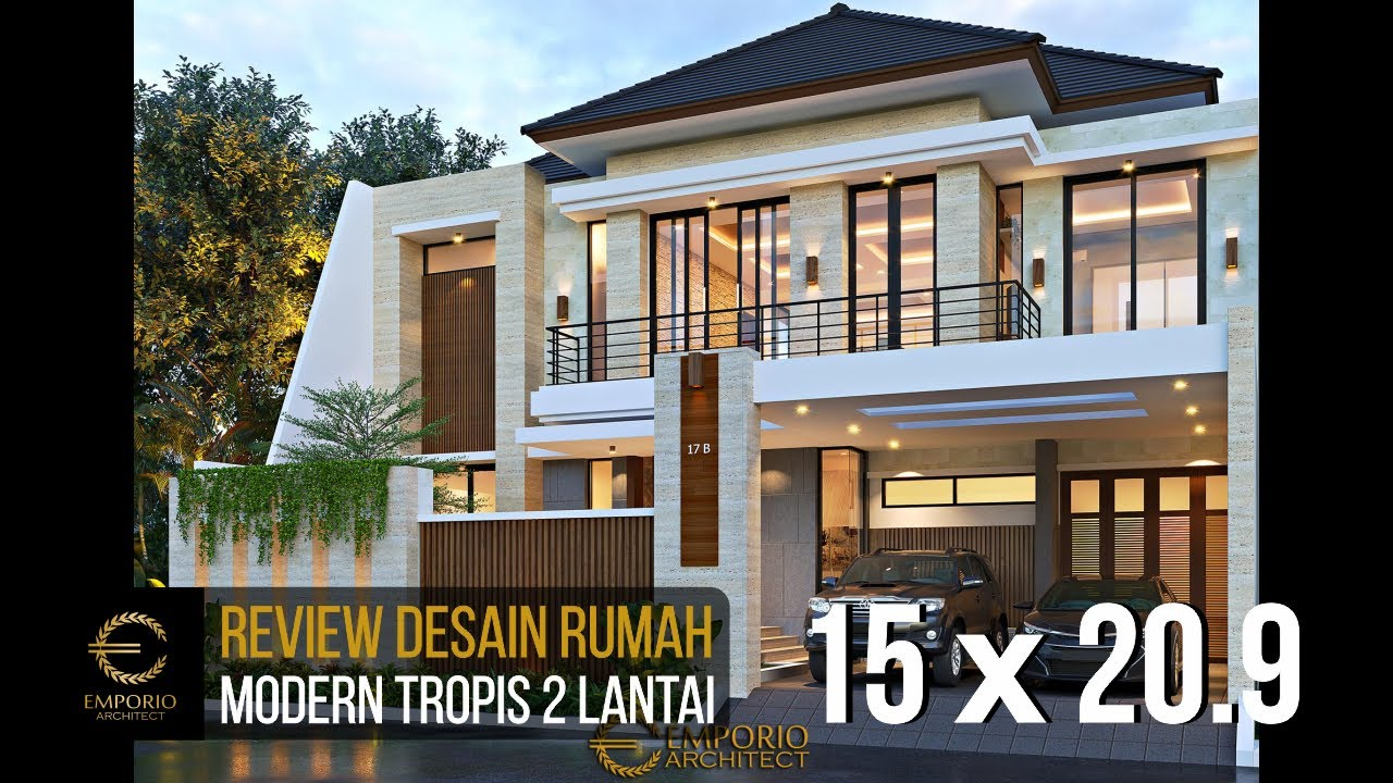 Video 3D Desain Rumah Modern 2 Lantai Bapak Akhmad Fahmi - Bekasi, Jawa Barat