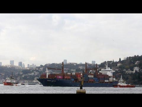 Τουρκία: Φορτηγό πλοίο προσέκρουσε στην ακτή του Βοσπόρου – ΒΙΝΤΕΟ…