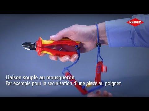 KNIPEX Tethered Tools: Système antichute pour outils à oeillet de fixation