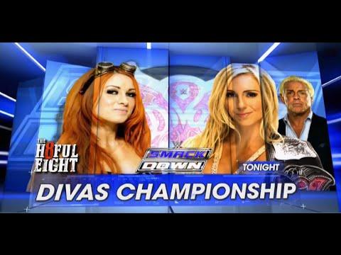 Беки Линч против Шарллот  - Divas championship Smack Down: 7 Января,2016
