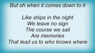 Tasmin Archer - When It Comes Down To It Lyrics