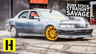 Lexus LS Goes Full Destruction Mode With One of our Favorite Burnyard Drivers!