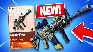 "FORTNITE *NEW* LEGENDARY ""COPPER TIGER"" WEAPON!! (Fortnite Save The World)"