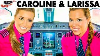 Caroline & Larissa pilot the Embraer E-195 out of Campinas