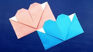 Origami Envelope Heart - Origami Valentines Day Gift Card Envelope