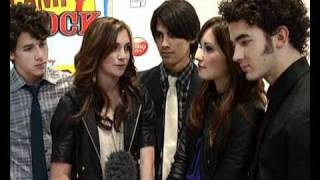 Camp Rock, The Jonas Brothers, Demi Lovato and Alyson Stoner interview at Camp Rock premiere