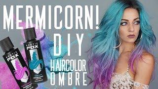 MERMICORN!!! | DIY Ombre Haircolor Tutorial!