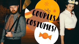 EASY HALLOWEEN COSTUMES! COUPLES HALLOWEEN COSTUMES IDEAS! FUNNY & HOMEMADE! COLLAB WITH LOVEMEG