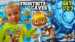Dad & Kids play PVZ 2 Frostbite Caves: HOT POTATO! Day 1, 2 & 3 (EPIC UPDATE w/ CRAZY CHASE!)