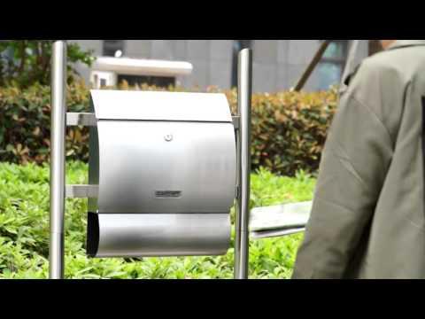 JAGO Edelstahl Briefkasten abschließbar mit Schlüssel BRK-01, BRK-02/2 oder BRK-06