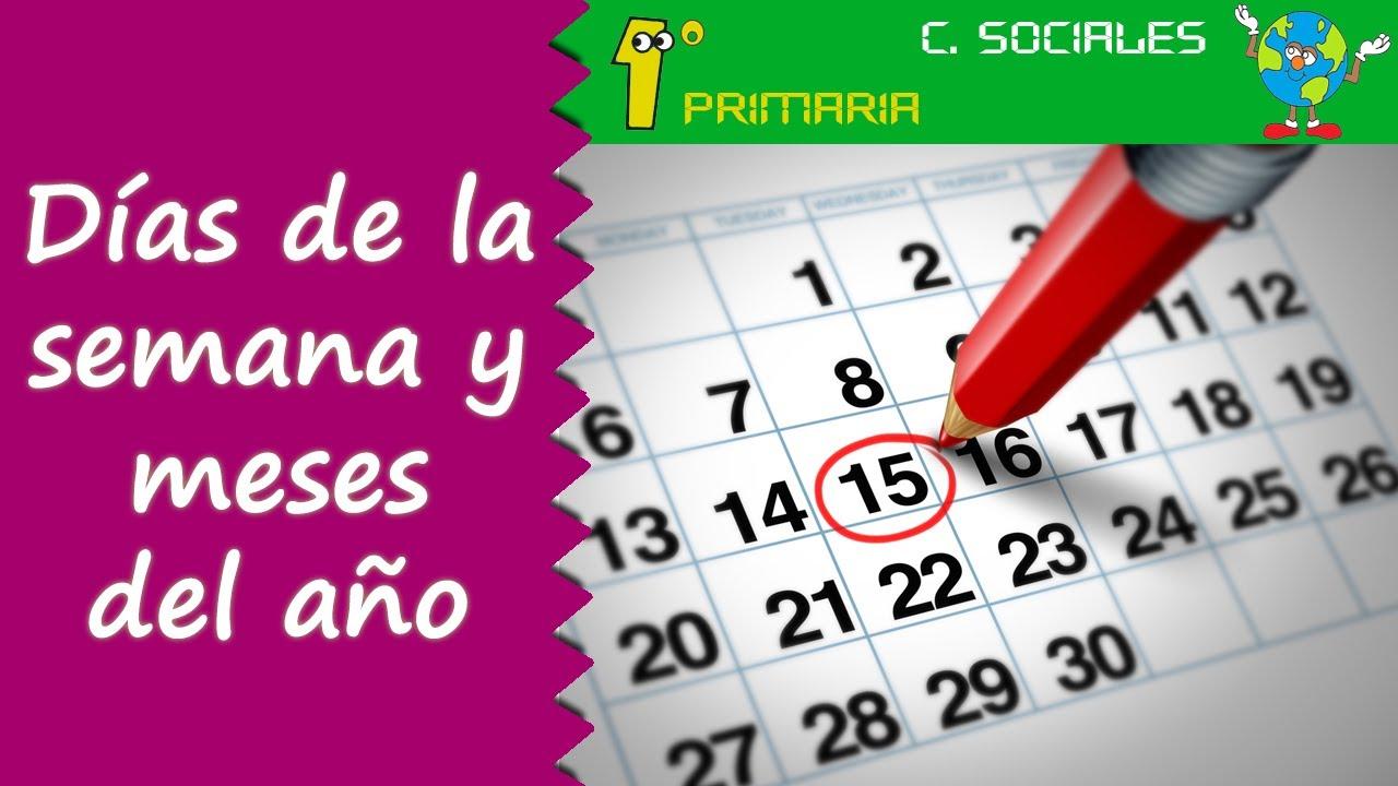 Ciencias Sociales. 1º Primaria. Tema 7: Días de la semana y meses del año