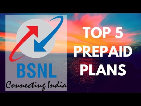 Top 5 cheapest prepaid plans of BSNL