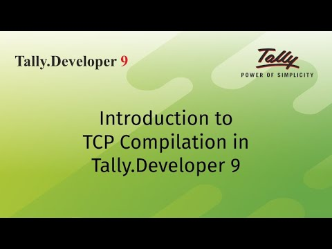 Build Your TCP - Tally.Developer 9