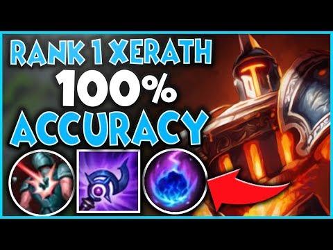 #1 XERATH WORLD 100% SKILLSHOT ACCURACY (GOD-TIER POKE) - League of Legends