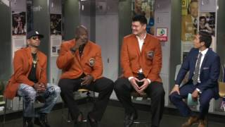 Allen Iverson, Shaq & Yao Ming funny interview (2016) *Basketball Hall of Fame