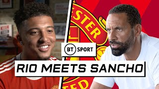 Rio Ferdinand Meets Jadon Sancho   Utd star on Fernandes, Messi to PSG and proving doubters wrong