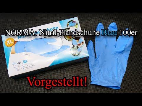 NORMA: Nitril-Handschuhe Blau 100er [Vorgestellt!]