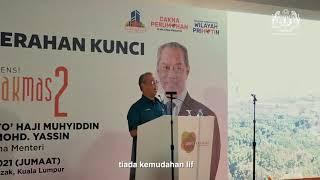 Majlis Penyerahan Kunci Rumah kepada penerima-penerima unit baharu di Residensi Razakmas2 pada 26 Mac 2021