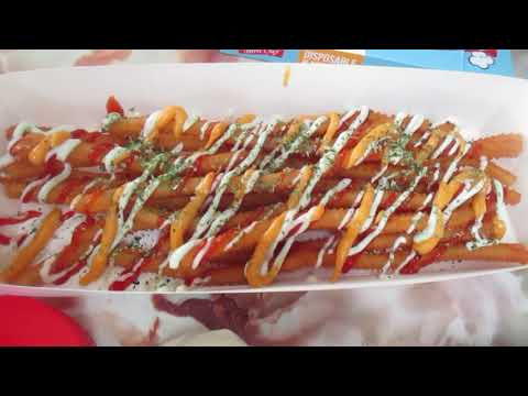 Long Potato Fries Chips Street Food