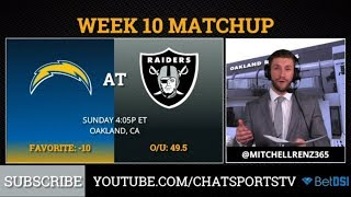 Raiders Week 10 Preview: Underdogs To Chargers, Betting Odds, AFC West Standings