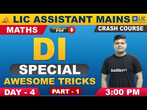 LIC Assistant Mains 2019 | Maths | Awesome Tricks for DI (Part 1) (Day 4)