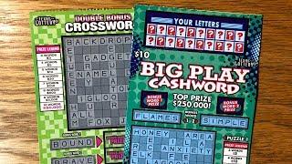 NEW TICKETS ! 2 x $5 $500 Frenzy & $10 $250,000 50X Cashword