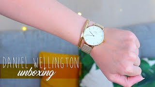 DANIEL WELLINGTON UNBOXING | A new shade of gold | PhiiSophie