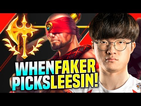 FAKER READY TO MAKE PLAYS WITH LEE SIN! - SKT T1 Faker Plays Lee Sin vs Mundo Jungle! | KR SoloQ