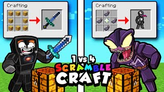 1 vs 4 Scramble Craft BATTLE ROYALE! (Minecraft)