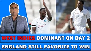 West Indies Dominant On Day 2 | England Still Favorite to win | Basit Ali