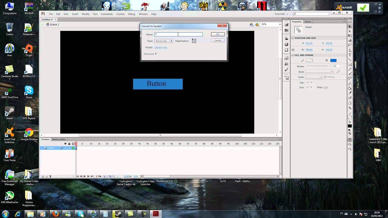 Tutorial do CryEngine 3 - Scaleform - parte 34 - criando HUD simples parte 1/3