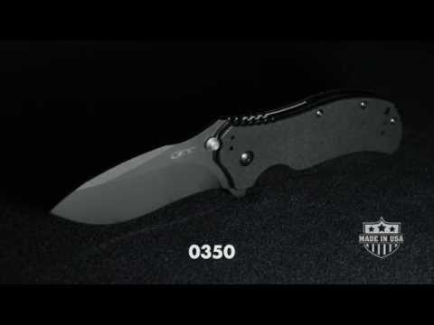 "Zero Tolerance 0350GRN Assisted Opening Knife Green Aluminum (3.25"" Black) ZT"