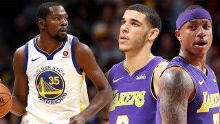 Lonzo Ball Shooting Struggles Continue! Isaiah Thomas Starting Debut!! Lakers vs Warriors!