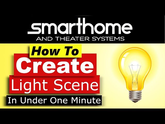 Crestron Home OS How to Create a Light Scene