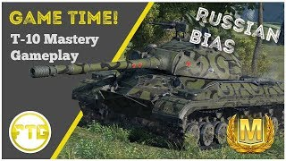 World Of Tanks Console -  T-10 Mastery Gameplay - 3rd Person Replay