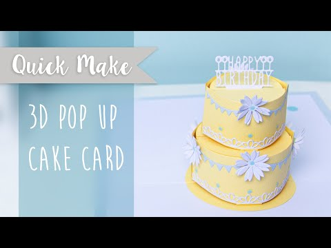 3D Pop Up Cake Card! - Sizzix