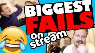 BIGGEST FAILS ON STREAM 😂