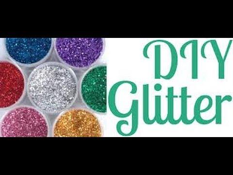how to make easy glitter sand for rangoli design by diysupreme