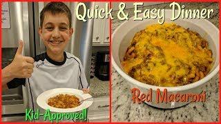 Quick Dinner | Weekday Dinner | Red Macaroni