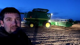 Broken Belt-Harvesting Soy Beans