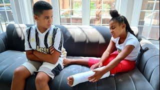 Girl BREAKS HER LEG, Big Brother GETS JEALOUS   FamousTubeFamily