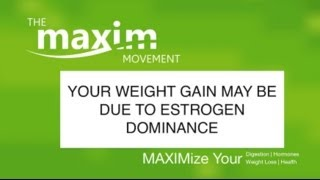 Weight Gain May Be From Estrogen Dominance...